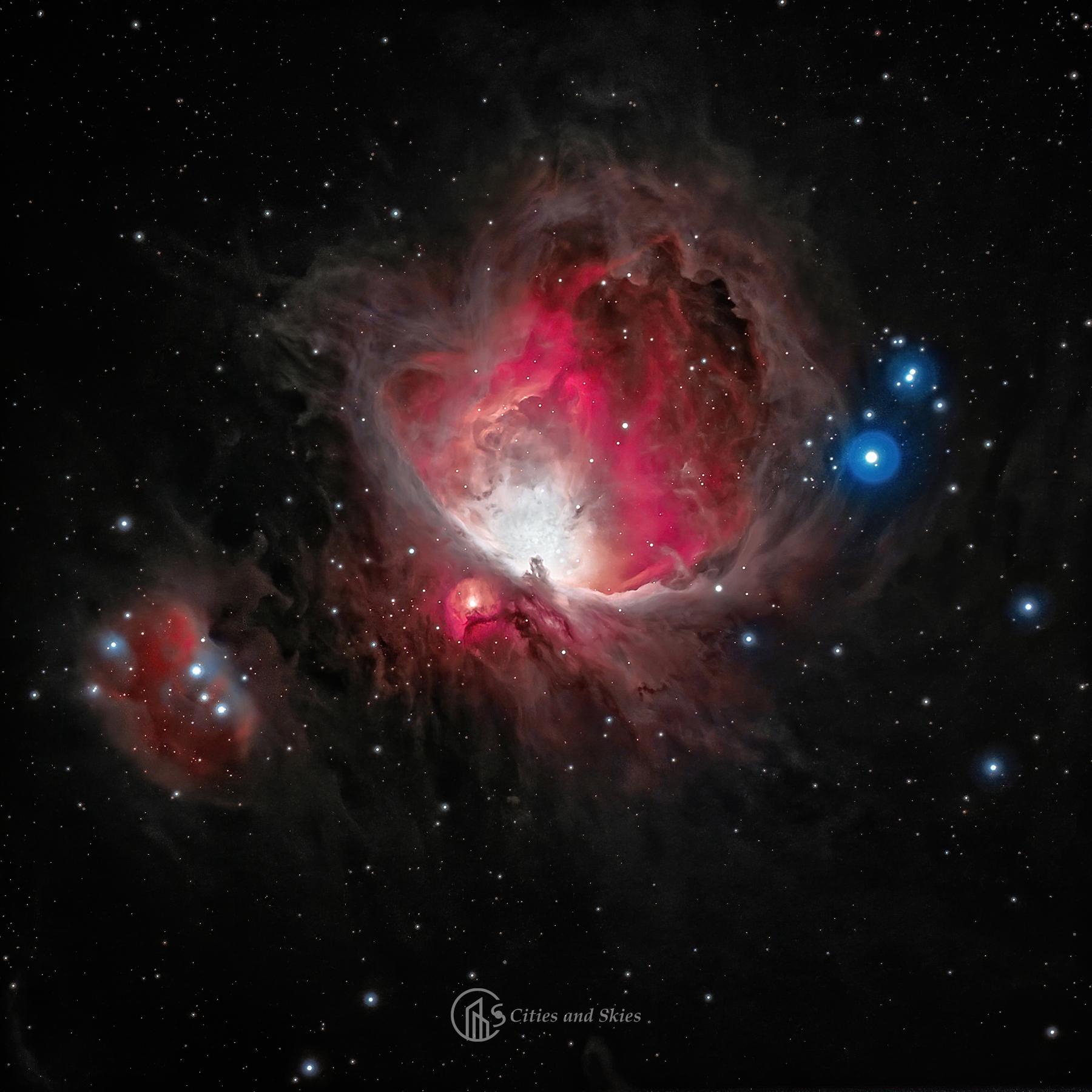 Orion köd (M42-43) és a Futóember