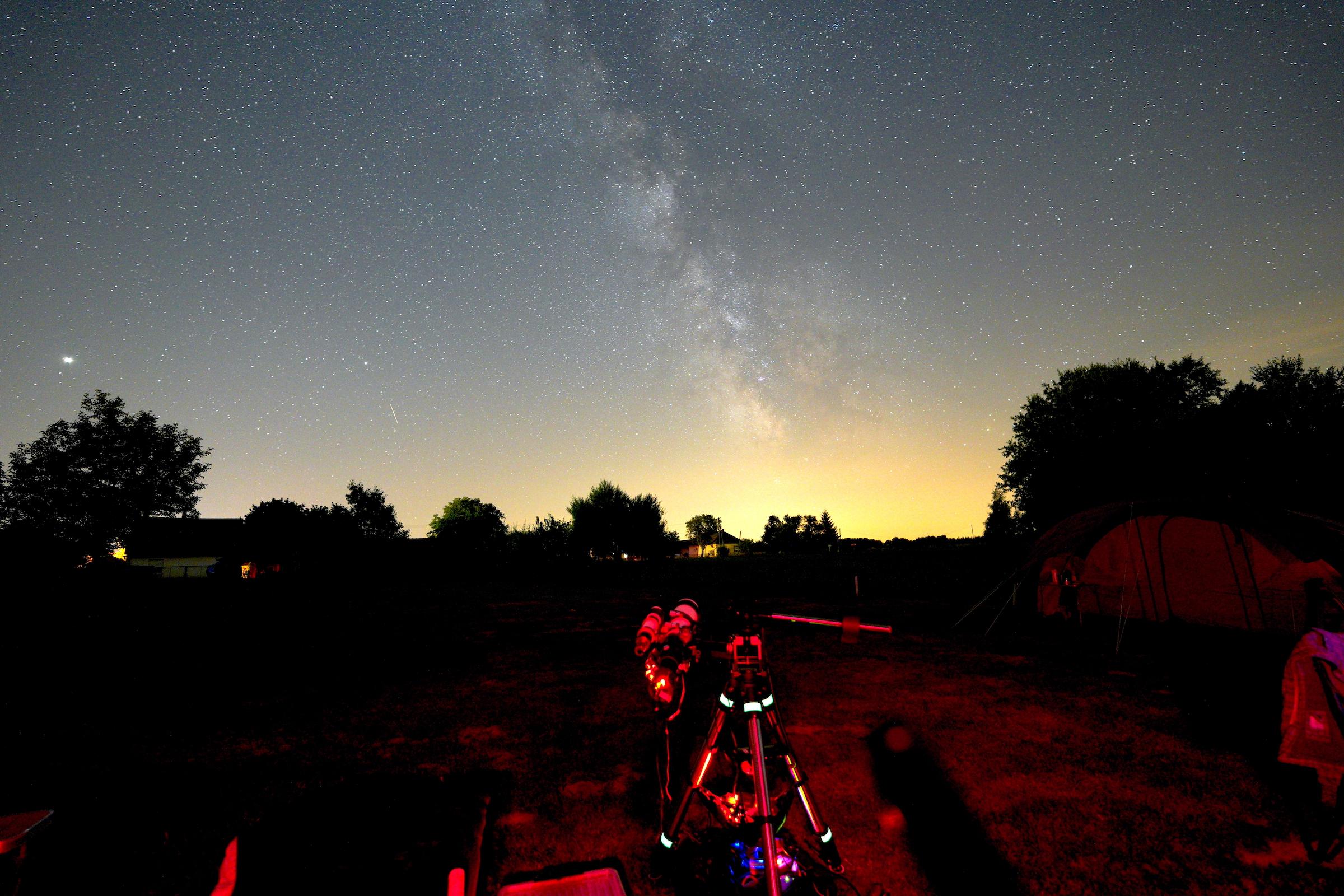 Tejút központi vidéke (Lagúna-köd fényképezés teleszkóppal).